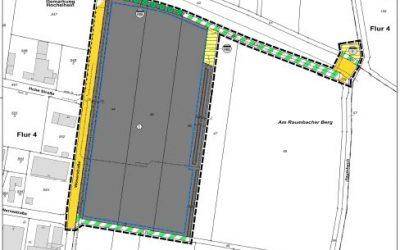 """Bebauungsplan Gewerbegebiet """"AM RAUMBACHER BERG"""" sowie Änderung des Flächennutzungsplanes in diesem Bereich"""