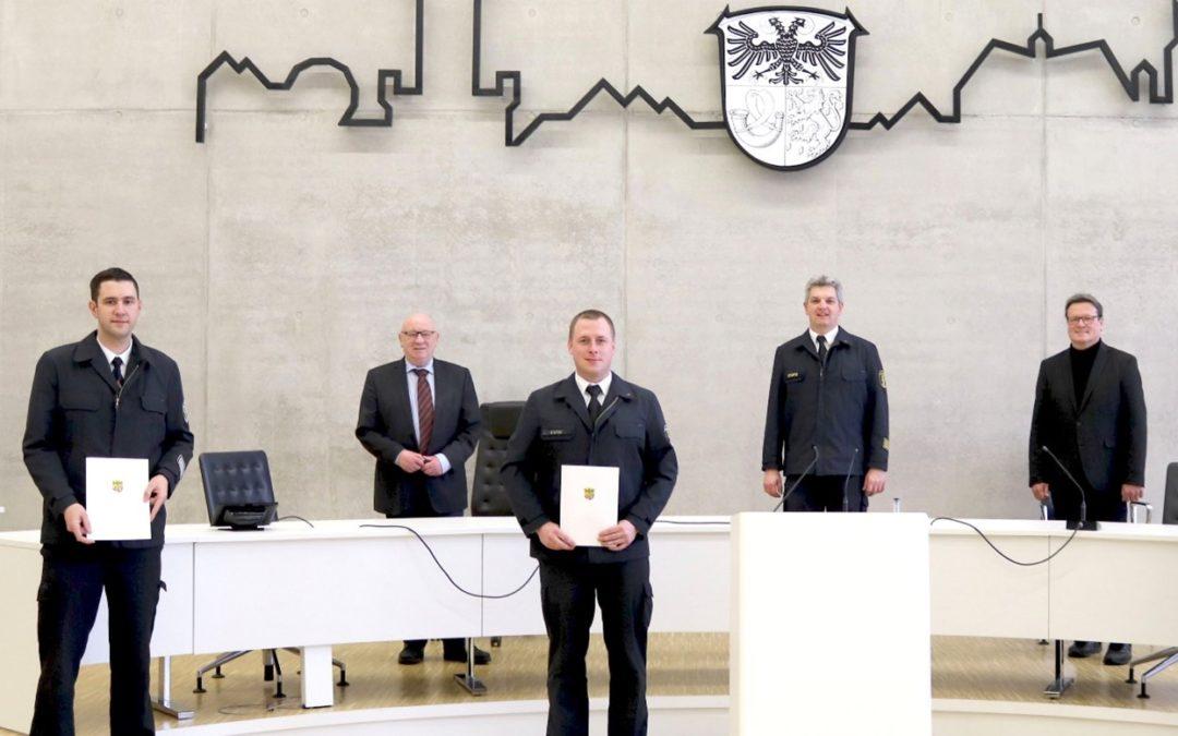 Wir gratulieren Torben Petry zur Ernennung zum Kreisbrandmeister