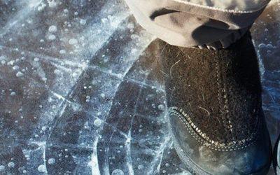 Eisflächen nicht betreten!